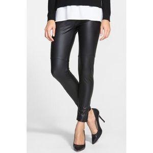 NWT Lysse Black Faux Leather Leggings Medium